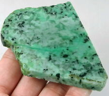 244Ct Natural Green Moonstone Crystal Facet Rough Specimen YMLG35
