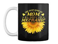 Mechanic Mom Mothers Sunflower Gift Coffee Mug