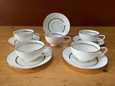 Fukagawa Japan Imperial Bone China Tea Cups And Saucers Set Of 5