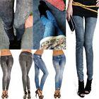 Charming Punk Womens Jeans Pants Leggings Skinny Denim Stretch Jeggings Trousers