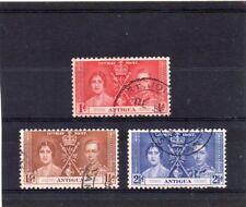 Antigua GV1 1937 Coronation sg 95-97 Used