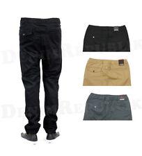JOGGER Kayden K Pants Men's Trousers Elastic Waist Twill Khaki Charcoal KD106