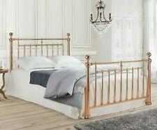 King Size Alexander Rose Gold Bed Frame 5ft Metal Free Delivery