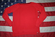 JC Penney Orange Knit Sweatshirt Size Medium: shirt/top/sweater/casual  #3895