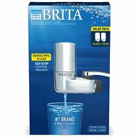 Brita Complete Tap Water Faucet Filtration System Value Pack - Chrome