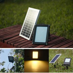 150 LED Solarleuchte Solarlampe Strahler Flutlicht Solar Panel Bewegungsmelder A