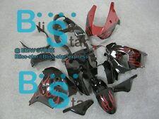 Red flames ABS Fairing Bodywork Plastic Kit Kawasaki Ninja ZX-9R 2000-2001 31 D7