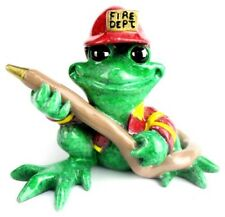 Ktty'S Kritters Code Red Fireman Figurine Frog