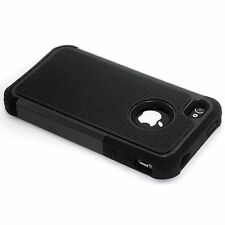 New Black Heavy Duty Protection Hard Case For iPhone 4 4S 4G
