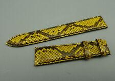 RRAB Orig KAUFMANN Leder Armband Schlange gelb leather snake 18mm TOP unbenutzt