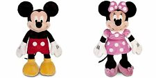 """NEW 2PC Disney  Mickey Mouse and Minnie Mouse Large 25"""" Plush Doll Licensed Toy"""
