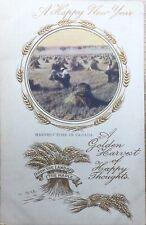 A Happy New Year - Birn Bros Antique Postcard