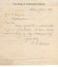 1905 Letterhead from the Fort Bragg & Southeastern Railroad Mendocino CA