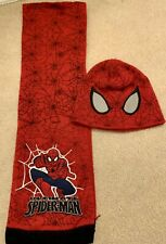 Boys Spiderman Hat And Scarf Set Size Small