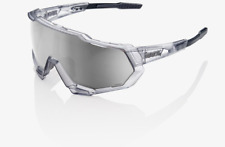 100% Percent Cycling Sunglasses Speedtrap Crystal Grey HiPER Silver Lens