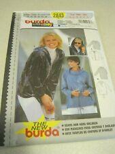 UNCUT BURDA Super Easy LADIES SHIRT & JACKET Sewing Pattern # 2843 10-20
