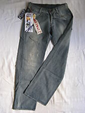Miss Sixty Blue Jeans Baggy Denim W30/L34 easy fit x-low waist straight wide leg