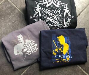 Creed T-shirt bundle XL-black Scott stapp,grey mark tremonti,navy Scott phillps