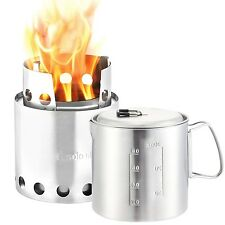 Solo Stove & Pot 900 Combo: Ultralight Wood Burning Backpacking Cook System
