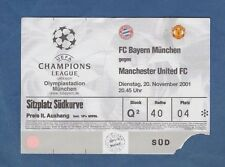 Orig.Ticket  Champions League  2001/02  BAYERN MÜNCHEN - MANCHESTER UNITED FC !!