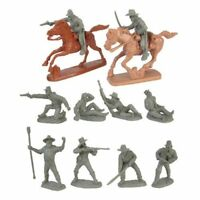 TOY SOLDIERS SAN DIEGO Confederate Artillery Cavalry Wounded 12 Gray FREE SHIP