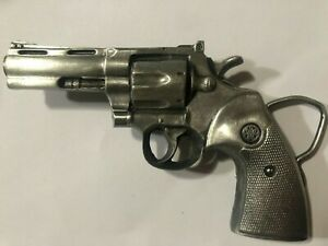 BERGAMONT BRASS WORKS REVOLVER GUN PISTOL BELT BUCKLE