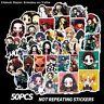 50 pcs Demon Slayer: kimetsu No YAIBA Anime Stickers Skateboard Stickers Superio