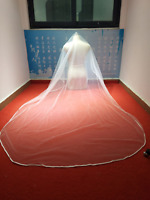 Cheap Simple Wedding Veils Chapel 1T Comb Bridal Veil Accessories White Ivory