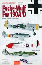 Cutting Edge Focke Wulf Fw 190 A/D #2 Decal Sheets CED48070 & CED72070
