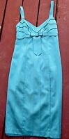 VINTAGE BETSEY JOHNSON DRESS Blue Aquamarine Size 2 Strappy Evening Cocktail