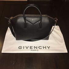 $2,499 Givenchy Antigona Medium Black Goat-Skin  Leather Handbag BNIB