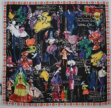 NWOT Authentic CHRISTIAN LACROIX Novelty Print 100% Silk Scarf Foulard