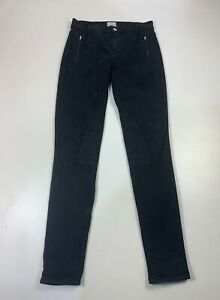 WOMENS FRENCH CONNECTION SIZE UK 10 BLACK SKINNY LEG STRETCH DENIM JEAN TROUSERS