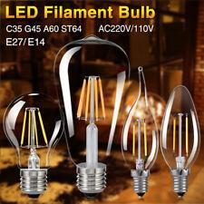 E27 E14 4-16W COB LED RETRO EDISON FILAMENT LIGHT BULB VINTAGE G45/A60/ST64 LAMP