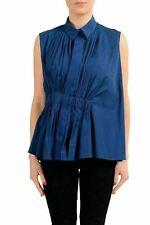 Viktor & Rolf Navy Sleeveless Women's Blouse Top US M IT 42