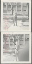 Unusual Vintage Photos Young Man w/ Finger Bomb Mistake & Retake 723161
