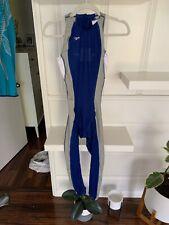 Mens Speedo Fastskin FSII Full Body speedsuit Skinsuit swimsuit techsuit Blue