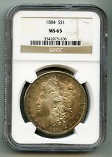 1884 Morgan Silver Dollar -- NGC MS 65 -- Mint State! -- Free Shipping in USA!!