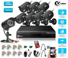XVIM Home Security CCTV System 8CH 1080N DVR IR Night Vision Camera Outdoor 1TB