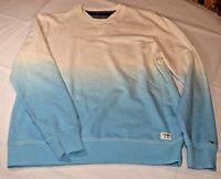 Mens Tommy Hilfiger long sleeve sweat shirt 78A6363 blue off white 911 XL crew