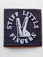 STIFF LITTLE FINGERS CLASSIC PUNK ROCK MUSIC  IRON-OR SEW ON PATCH  UK SELLER