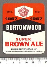 Vintage Lifeboat Ale Original Paper Lable Westoe Breweries South Sheilds #LAB1