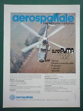 5/1983 PUB AEROSPATIALE HELICOPTERE AS 332 SUPER PUMA ALAT ORIGINAL FRENCH AD