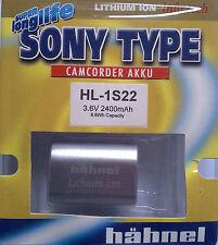 SONY TYPE CAMCORDER AKKU HL-1S22 3.6V 2400mAh Li-ion