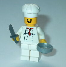 TOWN/CITY Lego Male Chef W/knife & pan NEW  Cook Genuine Lego