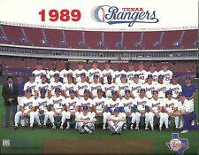 TEXAS RANGERS 8x10 Arlington Stadium 1989 TEAM PHOTO Baseball Picture NOLAN RYAN