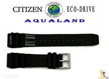 Citizen Eco-Drive Aqualand BJ2004-08E Original Black Rubber Watch Band Strap