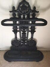 Antique English Cast Iron Umbrella Stand