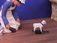 Dolls House 1/12 Hand Painted Child's Metal Pull-along Lamb