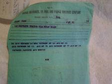 1978 CHICAGO,MILWAUKEE,ST.PAUL,PACIFIC RAILROAD TRAIN ORDER,6 SHEETS,Adams Yard